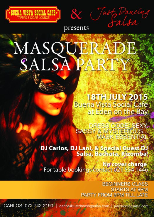 Masquerade Party flyer